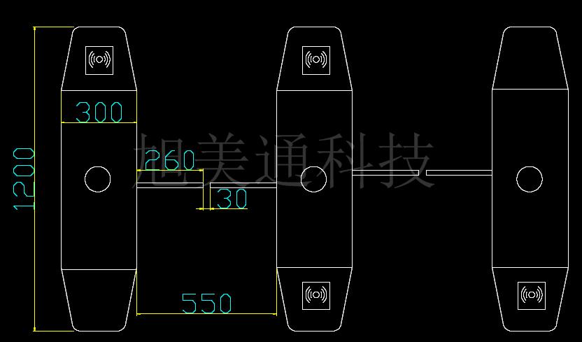 一路继电器输入远程控制闸机开闸;   3.